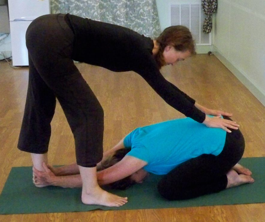 Assisted Child Pose | Living Room Yoga: Your Place for Yoga ...