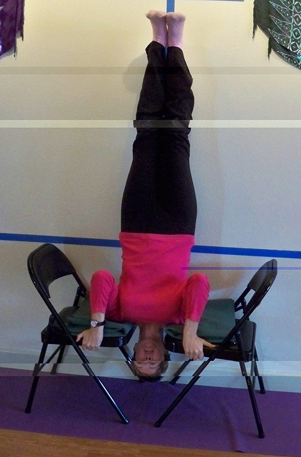 Shoulder Stand on Chairs | Living Room Yoga: Your Place for Yoga ...